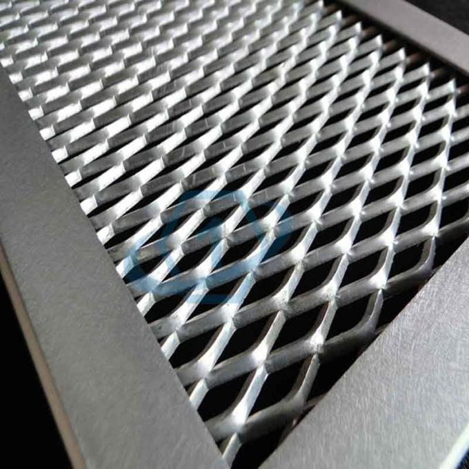Aluminum Flattened Expanded Metal , Windows Security Stretched Metal Sheet