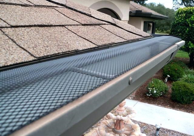 4 X 6 Mm Mesh Gutter Guards With Plate Thickness 0.55mm For Leaf Rain Proof