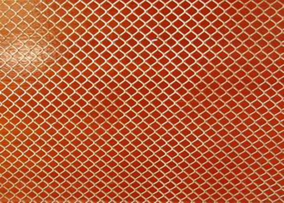 China Plastic Coated Aluminum Expanded Metal Mesh 0 . 5 Mm Thickness For Net / Roof supplier