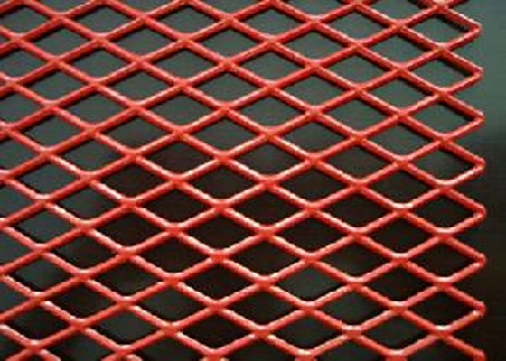 China PVC Spraying Stamping Aluminum Expanded Metal Mesh 0.5 Thickness For Security supplier