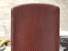 China PVC Dipping Mesh Gutter Guards With Plate 11 - 100mm Short Pitch Red Color factory