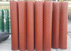 China Big Holes Wire Mesh Rolls , 0.3 - 2mm Steel Expanded Mesh Fencing Rolls factory