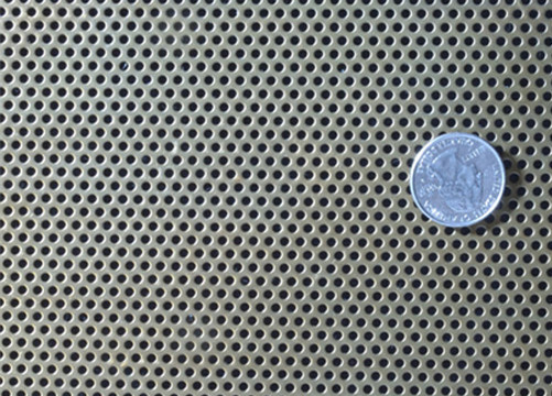 Truck Grill Round Hole Aluminum Perforated Sheet Anodized