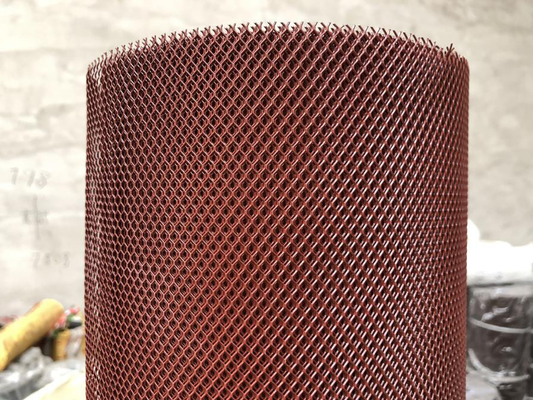 PVC Dipping Mesh Gutter Guards With Plate 11 - 100mm Short Pitch Red Color