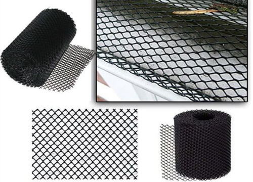 Aluminum 2mm X 6mm Mesh Gutter Guards For Increasing Gutter Life Black Color